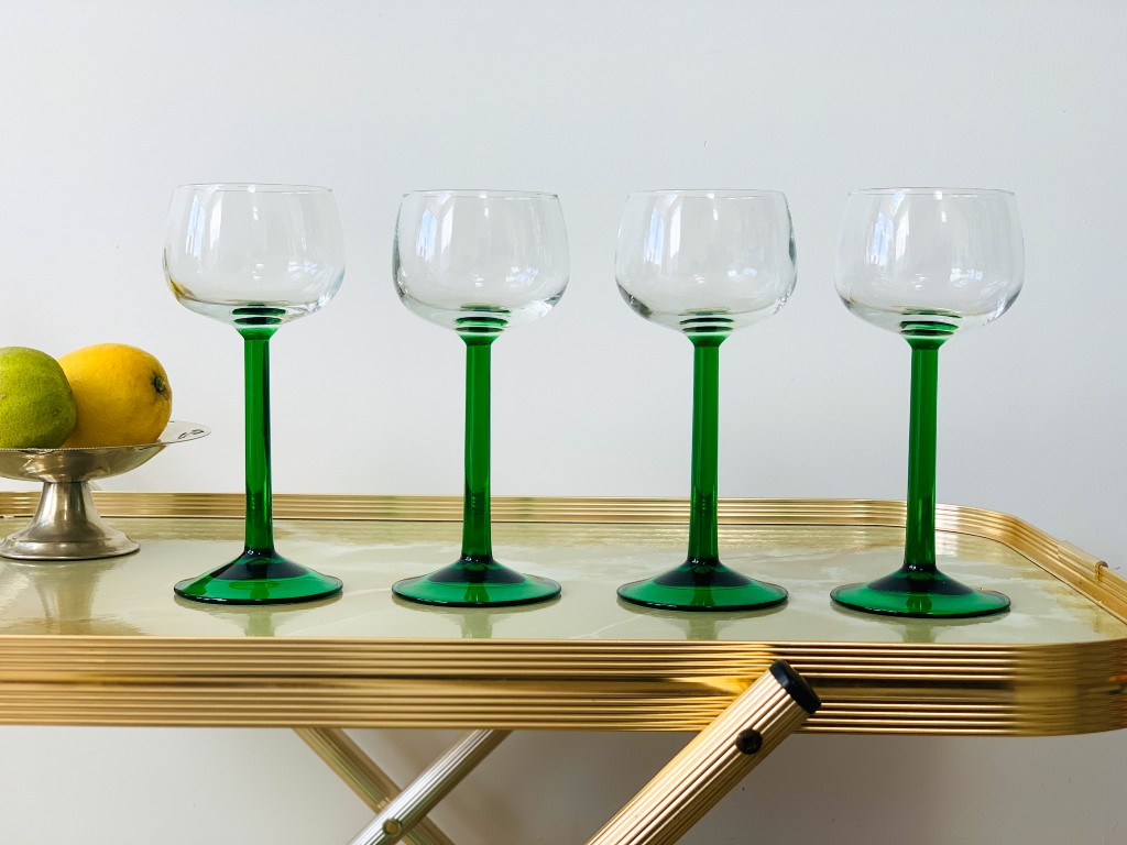 Luminarc wine glasses | vintage homeware trends | vintage homeware blog