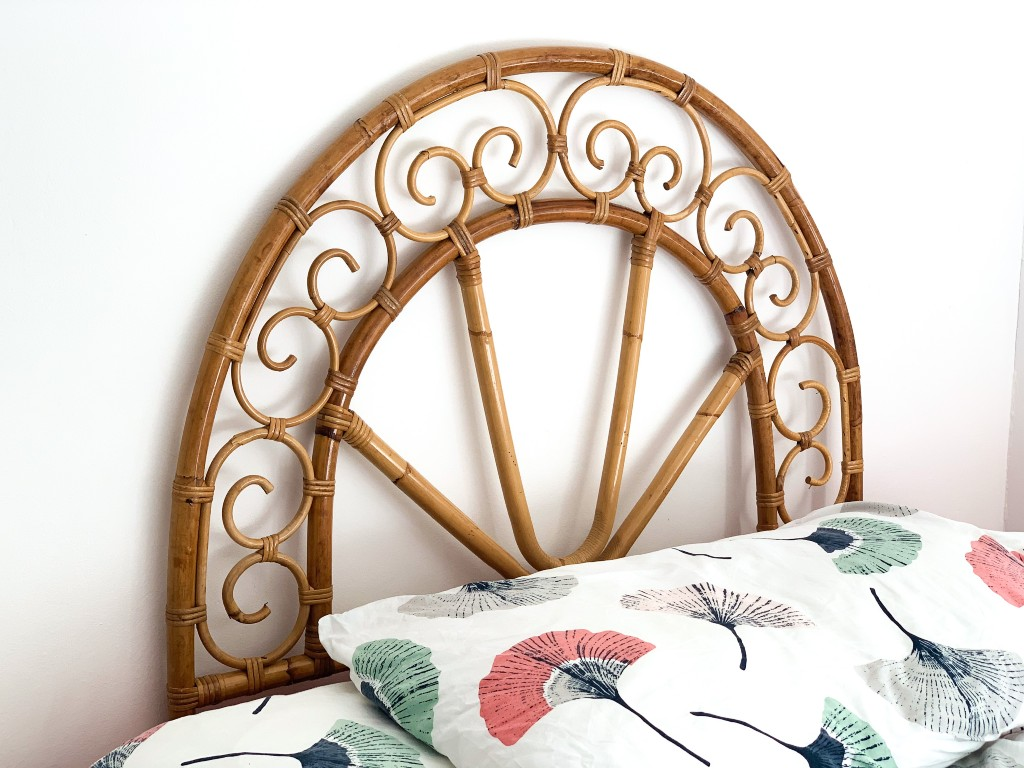 bamboo headboard | vintage homeware trends | vintage homeware blog